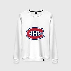 Свитшот хлопковый женский Montreal Canadiens цвета белый — фото 1