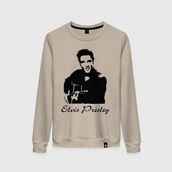 Свитшот хлопковый женский Elvis Presley цвета миндальный — фото 1