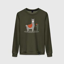 Женский свитшот Alpaca Llama