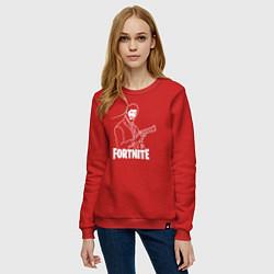 Свитшот хлопковый женский Fortnite Shooter цвета красный — фото 2