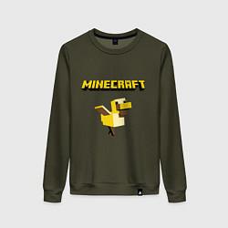 Свитшот хлопковый женский Minecraft Duck цвета хаки — фото 1