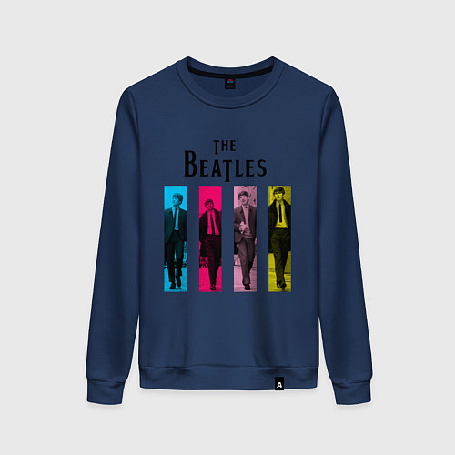 Женский свитшот Walking Beatles / Тёмно-синий – фото 1