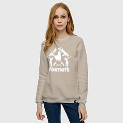 Свитшот хлопковый женский Fortnite Team цвета миндальный — фото 2