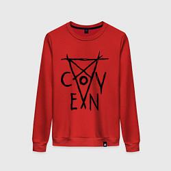 Свитшот хлопковый женский Coven цвета красный — фото 1