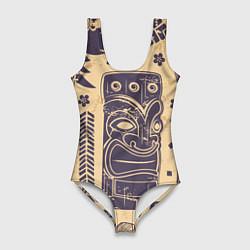 Купальник-боди 3D женский Африка цвета 3D — фото 1