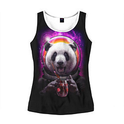Майка-безрукавка женская Panda Cosmonaut цвета 3D-белый — фото 1