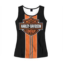 Майка-безрукавка женская Harley-Davidson цвета 3D-черный — фото 1