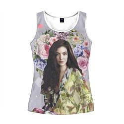Майка-безрукавка женская Lorde Floral цвета 3D-белый — фото 1