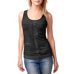 Майка-безрукавка женская Униформа Дэрила цвета 3D-черный — фото 2