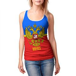 Майка-безрукавка женская Ижевск: Россия цвета 3D-белый — фото 2