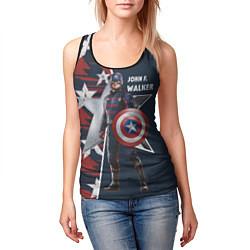 Майка-безрукавка женская Marvel Капитан Америка цвета 3D-черный — фото 2