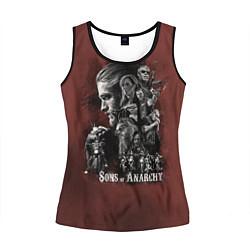 Майка-безрукавка женская Sons Of Anarchy цвета 3D-черный — фото 1