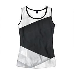 Майка-безрукавка женская Чёрно-белый цвета 3D-черный — фото 1
