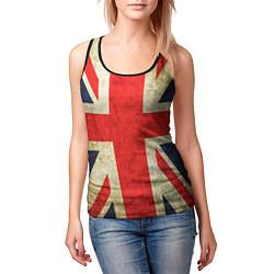 Майка-безрукавка женская Великобритания цвета 3D-черный — фото 2