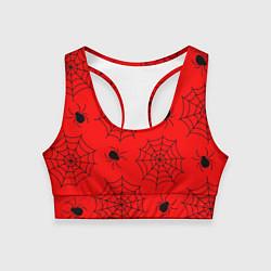 Топик спортивный женский Рассадник пауков цвета 3D — фото 1