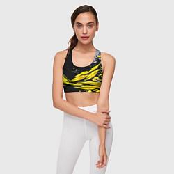 Топик спортивный женский Форма для фитнеса цвета 3D-принт — фото 2