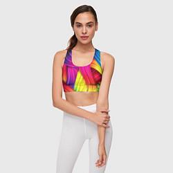 Топик спортивный женский Абстракция цвета цвета 3D — фото 2