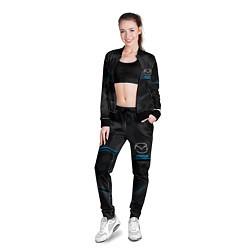 Олимпийка женская MAZDA цвета 3D-черный — фото 2