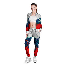 Олимпийка женская Триколор РФ цвета 3D-белый — фото 2
