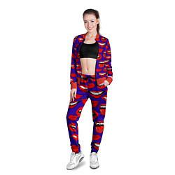 Олимпийка женская Губы цвета 3D-красный — фото 2