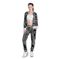 Олимпийка женская Paisley цвета 3D-белый — фото 2