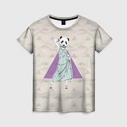 Футболка женская Panda Girl: yes yes? цвета 3D — фото 1