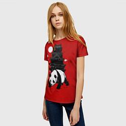 Футболка женская Panda Warrior цвета 3D — фото 2