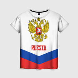 Футболка женская Russia Hockey Team цвета 3D-принт — фото 1
