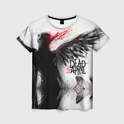 Футболка женская Dead by April: Black angel цвета 3D-принт — фото 1