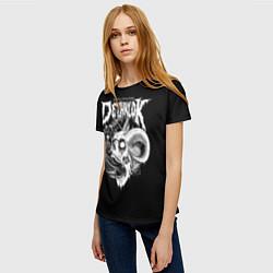 Футболка женская Dethklok: Goat Skull цвета 3D — фото 2
