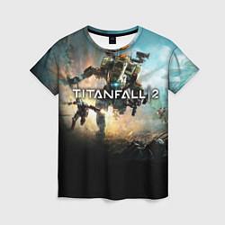 Футболка женская Titanfall Battle цвета 3D — фото 1