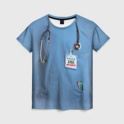 Футболка женская Костюм врача цвета 3D — фото 1