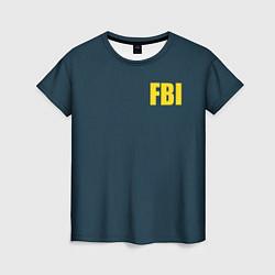 Футболка женская FBI цвета 3D-принт — фото 1