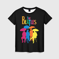Футболка женская The Beatles: Colour Rain цвета 3D-принт — фото 1