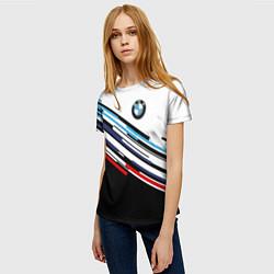 Футболка женская BMW BRAND COLOR цвета 3D — фото 2