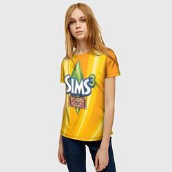 Футболка женская The Sims: Roaring Heights цвета 3D — фото 2
