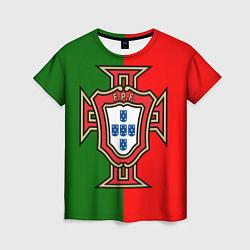 Футболка женская Сборная Португалии цвета 3D-принт — фото 1