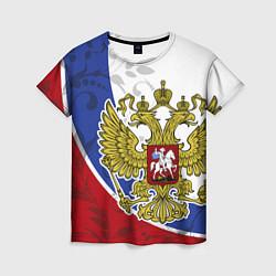 Футболка женская Российская душа цвета 3D — фото 1