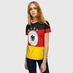 Футболка женская Немецкий футбол цвета 3D — фото 2
