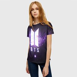 Футболка женская BTS: Violet Space цвета 3D — фото 2