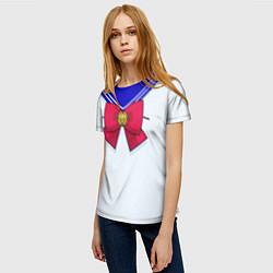 Футболка женская Девочка-матроска цвета 3D — фото 2