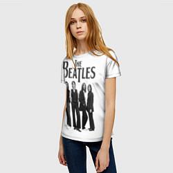 Футболка женская The Beatles: White Side цвета 3D-принт — фото 2