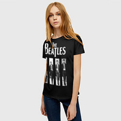 Футболка женская The Beatles: Black Side цвета 3D-принт — фото 2