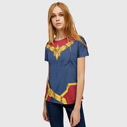 Футболка женская Capitan Marvel Costume цвета 3D — фото 2