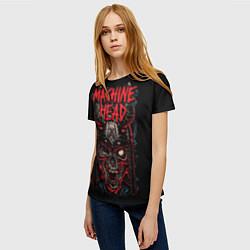Футболка женская Machine Head: Blooded Skull цвета 3D — фото 2
