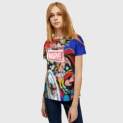 Футболка женская Thor: MARVEL цвета 3D — фото 2