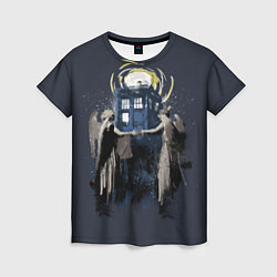 Футболка женская Doctor Who цвета 3D — фото 1
