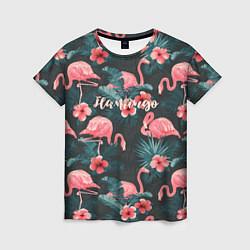 Футболка женская Flamingo цвета 3D — фото 1