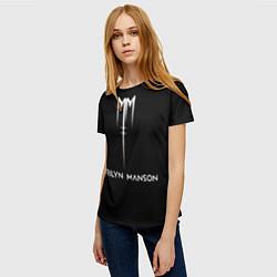 Футболка женская Marilyn Manson цвета 3D — фото 2