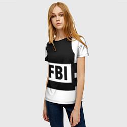 Футболка женская Бронежилет FBI цвета 3D-принт — фото 2